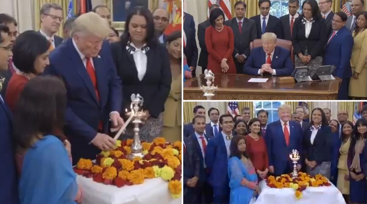 Diwali 2019: डोनाल्ड ट्रंप ने व्हाइट हाउस में पत्नी मेलानिया संग दीप जलाकर लोगों को दी दीपावली की बधाई, देखें वीडियो