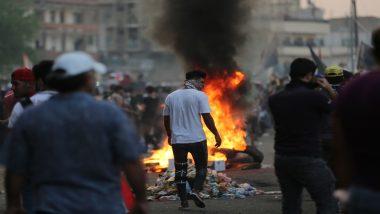 इराक में सरकार के खिलाफ हिंसक विरोध प्रदर्शन, दुर्घटना में 26 की मौत हजार से अधिक घायल