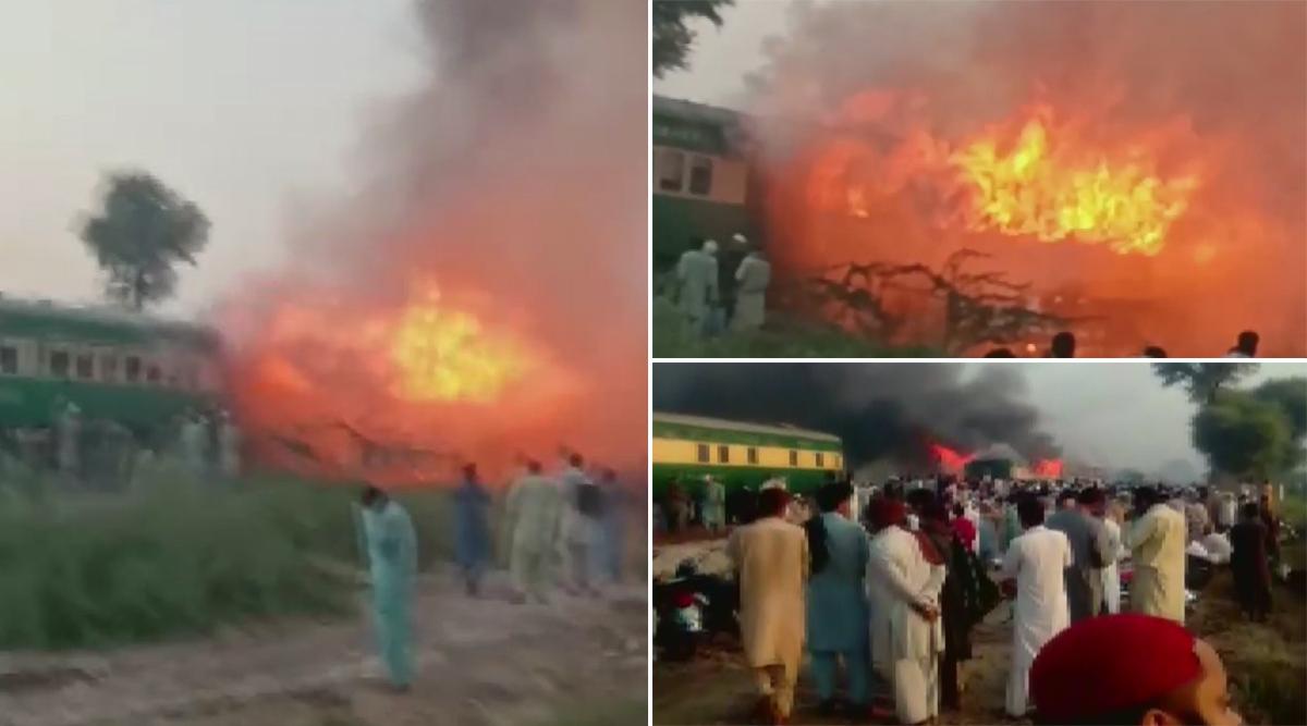 पाकिस्तान: कराची-रावलपिंडी तेजगाम एक्सप्रेस में बीते दिन लगी थी आग, दुर्घटना में मरने वालों की संख्या बढ़कर 74 हुई
