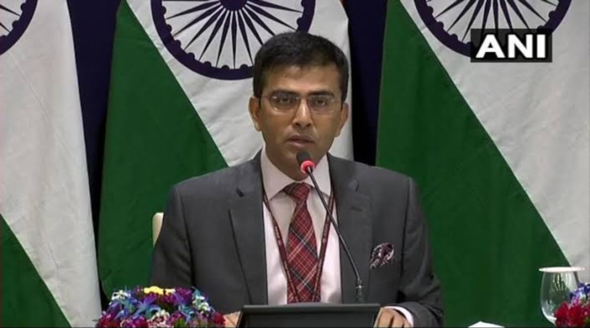 विदेश मंत्रालय के प्रवक्ता रवीश कुमार ने कहा- करतारपुर गलियारा परियोजना जल्दी पूरा करने के लिए प्रतिबद्ध है भारत