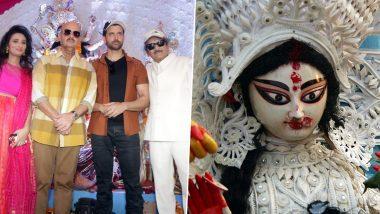 Navratri 2019: ऋतिक रोशन ने पिता राकेश रोशन के साथ मां दुर्गा के पंडाल में टेका मत्था, देखें फोटोज