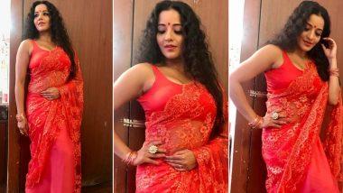Monalisa Hot Pics: भोजपुरी एक्ट्रेस मोनालिसा केहॉट करवा चौथ लुक ने इंटरनेट पर मचाई सनसनी, देखें लेटेस्ट फोटोज