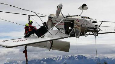 जब उड़ान भरते ही अचानक बिजली के तारों में टकरा गया विमान, उसके बाद जो हुआ... देखें वायरल वीडियो