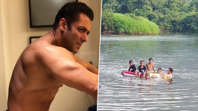 सलमान खान ने बच्चों के साथ तालाब में लगाए गोते, फोटो शेयर करके कहा- धरती मां का आदर सम्मान सर आंखों पर