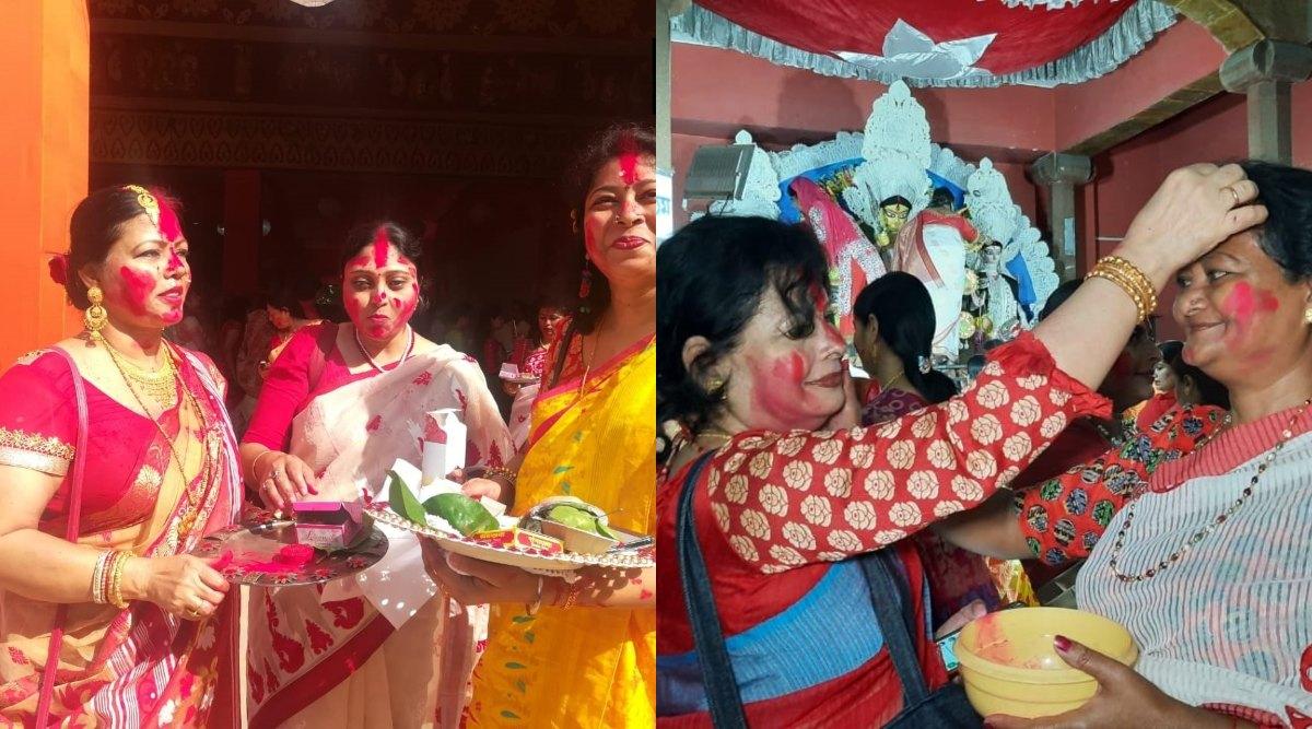 Vijayadashami 2019: देशभर में दशहरे की धूम, विजयादशमी पर सिंदूर खेला में शामिल हुईं बंगाली समुदाय की महिलाएं, देखें वीडियो और तस्वीरें