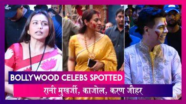 Rani Mukerji, Kajol, Karan Johar सिंदूर खेला के लिए पहुंचे दुर्गा पंडाल |  Celebs Spotted