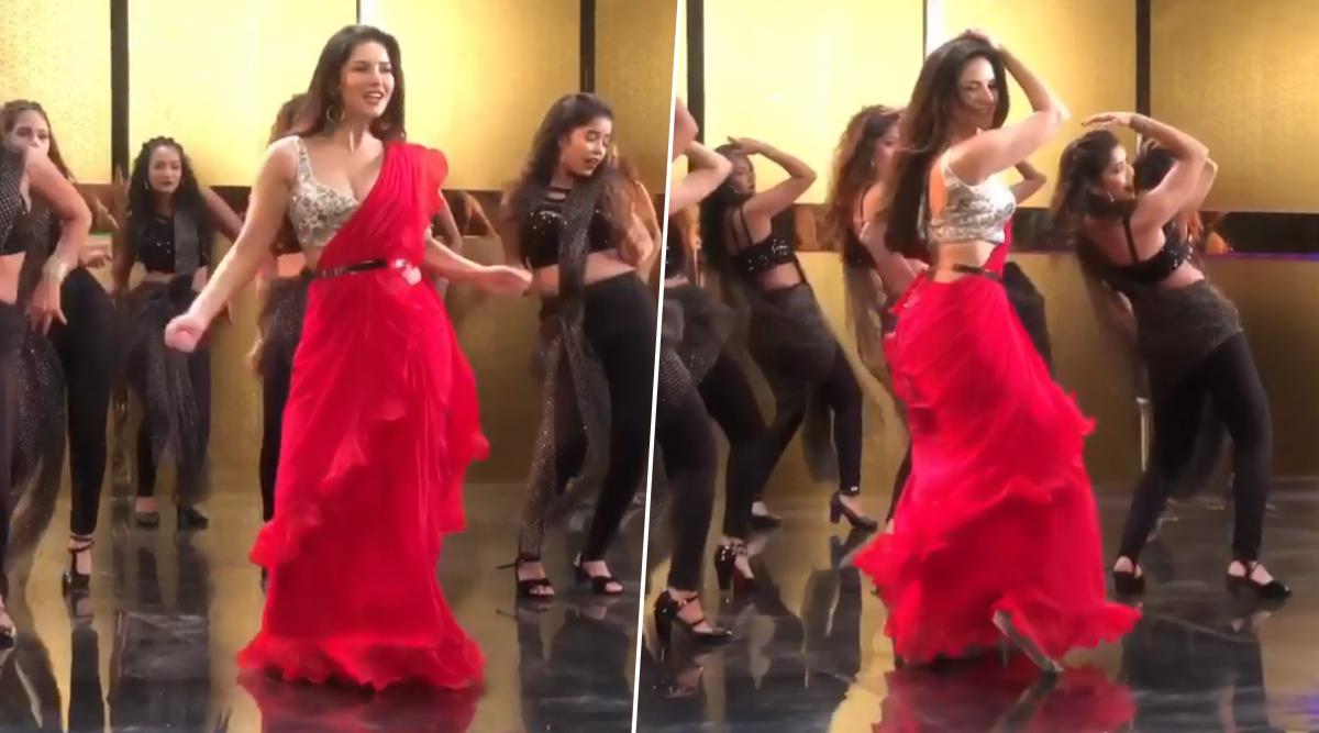 Sunny Leone ने लाल साड़ी में किया ऐसा डांस, हॉट Video देखकर छूटे फैंस के पसीने