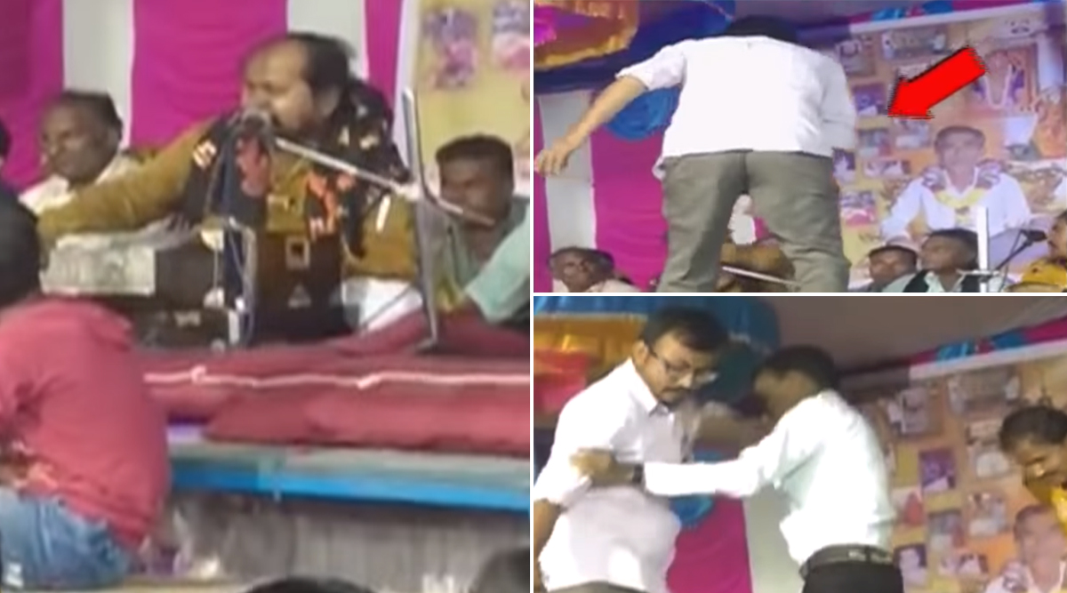 गुजरात: शराब पीकर गाया बेसुरा भजन, लोगों ने स्टेज पर चढ़कर कर दी धुनाई, देखें वायरल वीडियो