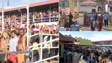 सबरीमाला मंदिर खुलने के बाद भक्तों ने की भगवान अयप्पा की पूजा, पुलिस ने 10 'वर्जित' आयु की महिलाओं को भेजा वापस