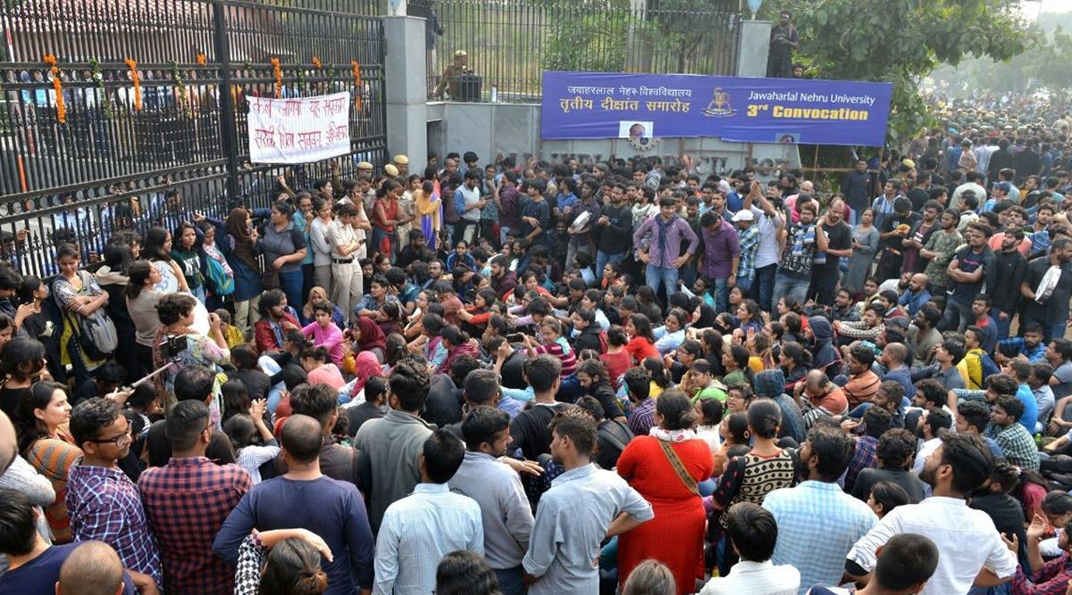 JNU हिंसाः प्रदर्शन में शामिल जेएनयू के कई छात्र हुए जख्मी