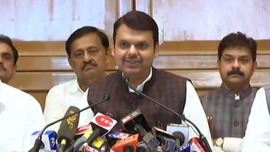 महाराष्ट्र: देवेंद्र फडणवीस ने मुख्यमंत्री पद से दिया इस्तीफा, कहा- ढाई-ढाई साल के सीएम पद पर कोई निर्णय नहीं हुआ था