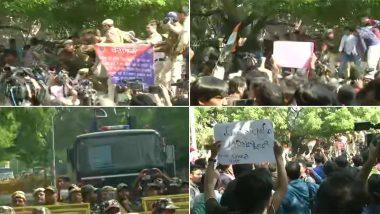 दिल्ली पुलिस ने बेर सराय रोड पर JNU छात्रों का संसद मार्च रोका