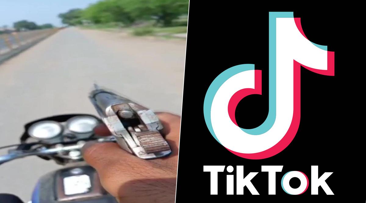 TikTok के लिए चलती बाइक पर पिस्टल के साथ बनाया वीडियो, हुआ ये अंजाम