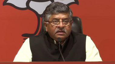 महाराष्ट्र: रविशंकर प्रसाद का शिवसेना पर हमला, कहा- कुर्सी के लिए विरोधी दलों के साथ मैच फिक्सिंग का खेल चल रहा था