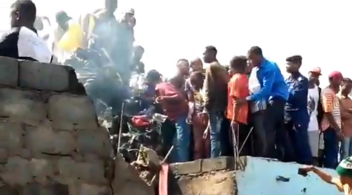 कांगो के गोमा शहर में विमान के दुर्घटनाग्रस्त होने से 18 लोगों की मौत