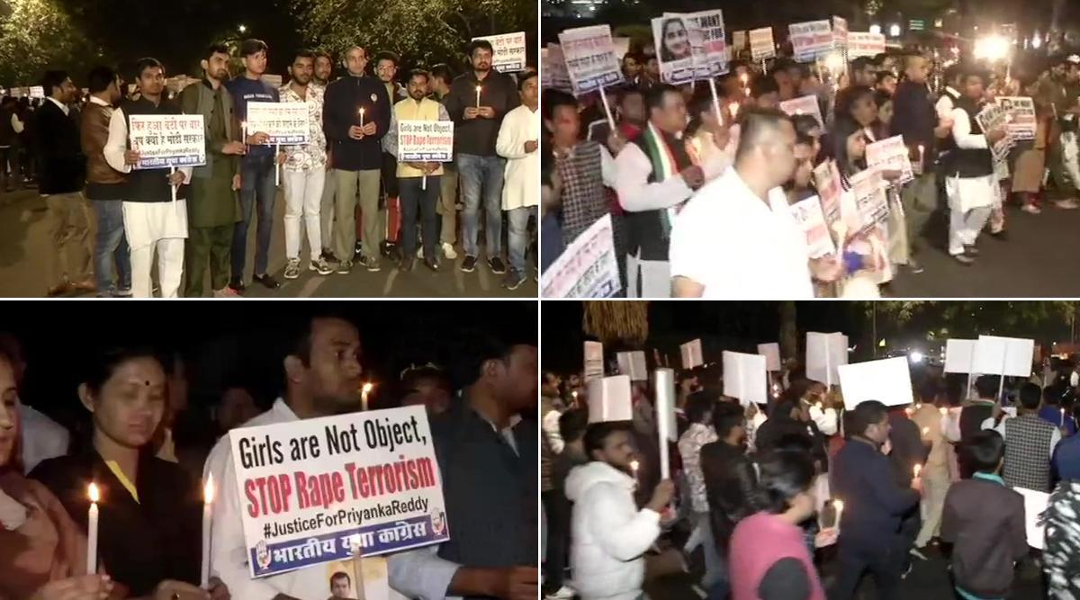हैदराबाद वेटनरी महिला डॉक्टर बलात्कार और हत्या मामला: युवा कांग्रेस के कार्यकर्ताओं ने जंतर-मंतर पर निकाला विरोध मार्च