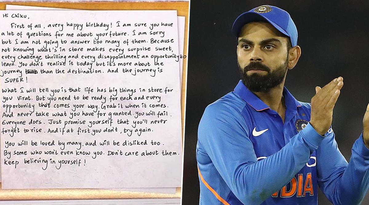 Happy Birthday Virat Kohli: जन्मदिन के मौके पर विराट कोहली ने लिखा दिल को छू लेने वाला खास लेटर