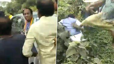 पश्चिम बंगाल उपचुनाव: बीजेपी प्रत्याशी जयप्रकाश मजूमदार पर हमला, लात मारकर झाड़ियों में फेंका, वीडियो हुआ वायरल