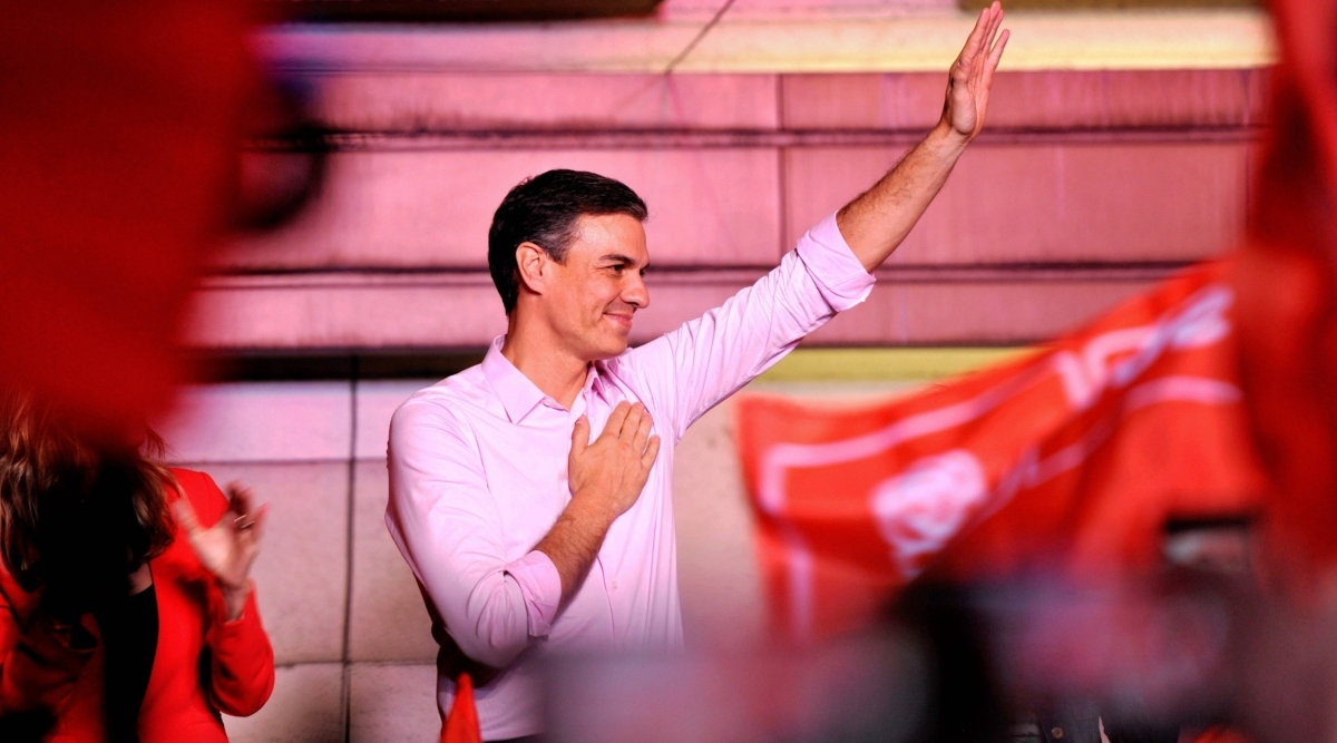 स्पेन: आम चुनावों में कार्यवाहक प्रधानमंत्री प्रेडो सांचेज की सत्तारूढ़ सोशलिस्ट पार्टी ने बनाई बढ़त