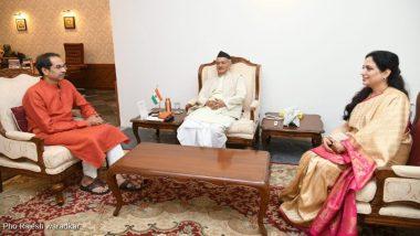 महाराष्ट्र: उद्धव ठाकरे ने राज्यपाल भगत सिंह कोश्यारी से की मुलाकात, पत्नी रश्मि ठाकरे भी थीं मौजूद