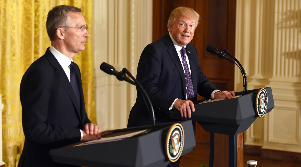 अमेरिकी राष्ट्रपति डोनाल्ड ट्रंप व्हाइट हाउस में नाटो प्रमुख जेंस स्टोल्टनबर्ग से विभिन्न मुद्दों पर करेंगे चर्चा
