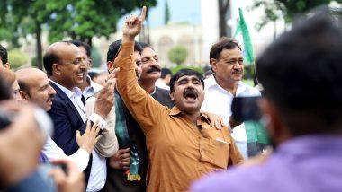 जमीयत उलेमा-ए-इस्लाम-फजल के नेता मौलाना फजलुर रहमान के नेतृत्व में विपक्ष का 'आजादी मार्च' इस्लामाबाद पहुंचा, पाक पीएम इमरान खान को बर्खास्त करने की मांग