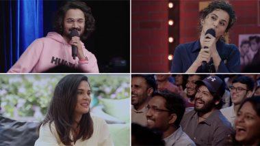 Video: वन माइक स्टैंड का ट्रेलर हुआ रिलीज, कॉमेडियन जाकिर खान, भुवन बम और तापसी पन्नू का दिखा कॉमिक अंदाज