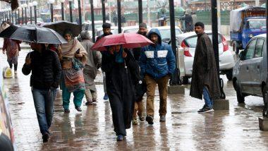 जम्मू-कश्मीर के ऊपरी इलाकों में फिर हुई बर्फबारी और बारिश, कई स्थानों पर तापमान शून्य से  नीचे