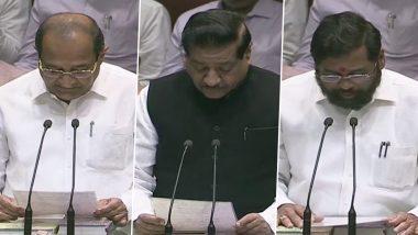 महाराष्ट्र विधानसभा का विशेष सत्र: प्रोटेम स्पीकर कालीदास कोलंबकर ने विधायकों को दिलाई शपथ