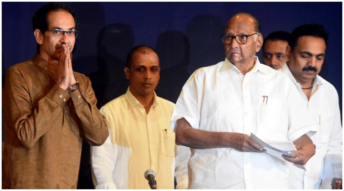महाराष्ट्र सत्ता संघर्ष: शिवसेना, एनसीपी-कांग्रेस ने 160 विधायकों के समर्थन से राज्यपाल के पास सरकार बनाने का दावा पेश किया