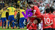 Brazil vs South Korea, International Friendly 2019 Live Streaming & Match Time in IST: ब्राजील और साउथ कोरिया के बीच होने वाले मैच को भारत मे ऐसे देखें लाइव