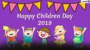 बाल दिवस भारत 2019 Wishes: इन शानदार हिंदी WhatsApp Stickers, Facebook Messages, Photo SMS, GIF Images, HD Wallpapers को भेजकर दें Children's Day की शुभकामनाएं