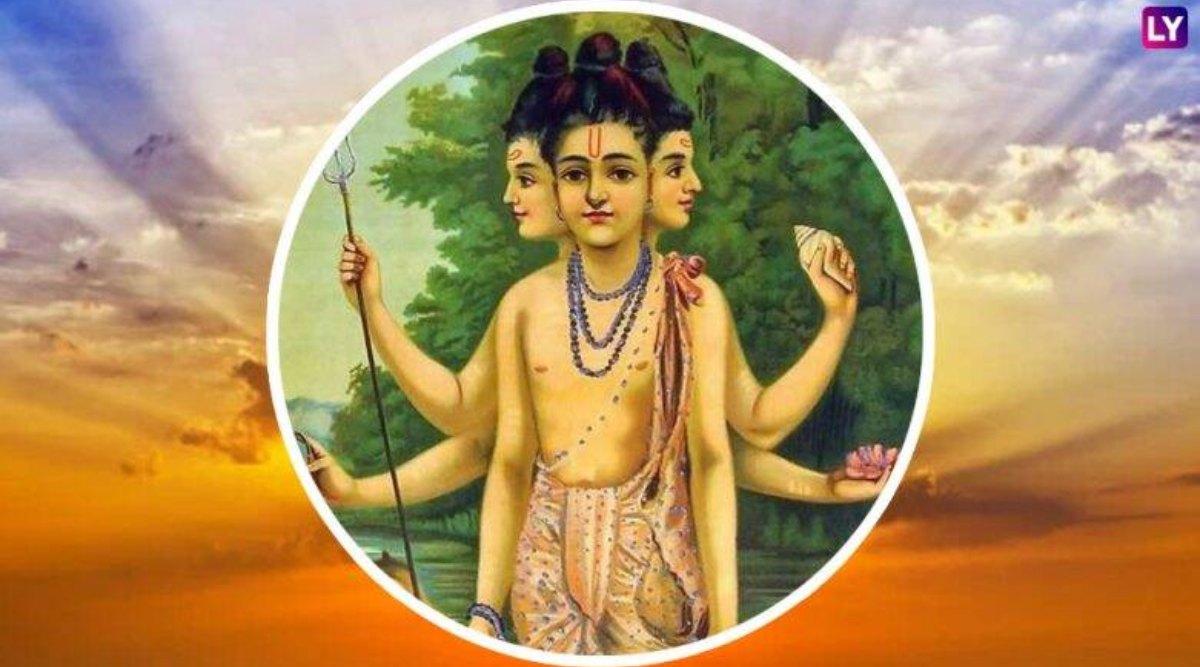 Dattatreya Jayanti 2019: दत्त जयंती कब है? जानें त्रिदेवों के अंश कहे जाने वाले भगवान दत्तात्रेय के जन्म से जुड़ी पौराणिक कथा