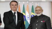 प्रधानमंत्री नरेंद्र मोदी ने ब्राजील के राष्ट्रपति जायर बोलसोनारो के साथ की द्विपक्षीय वार्ता,