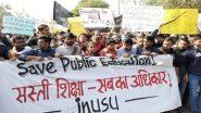 JNU Protest: जेएनयू के छात्रों ने केंद्रीय मानव संसाधन मंत्री का आश्वासन मिलने के बाद धरना किया खत्म