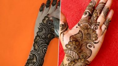 Roka Ceremony Mehndi Designs: रोका सेरेमनी के लिए मेहंदी के इन खूबसूरत डिजाइन से अपने हाथों की सुंदरता में लगाएं चार चांद