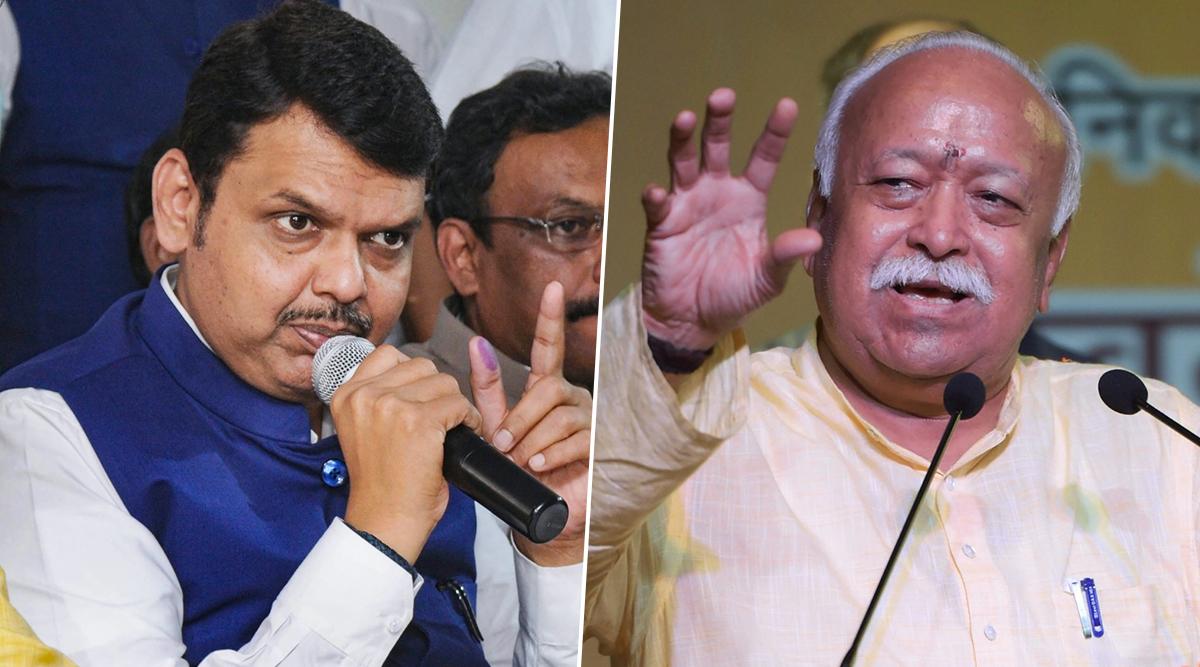 महाराष्ट्र में सरकार पर सस्पेंस: सीएम देवेंद्र फडणवीस ने नागपुर में RSS प्रमुख मोहन भागवत से की मुलाकात