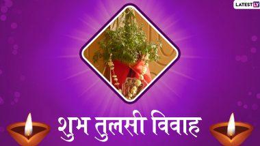 Tulsi Vivah 2019 Wishes & HD Images: तुलसी विवाह के खास पर्व पर इन प्यारे हिंदी WhatsApp Stickers, Facebook Greetings, GIF Images और HD Wallpapers को भेजकर अपने प्रियजनों को दें शुभकामनाएं