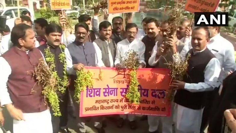 महाराष्ट्र सत्ता संघर्ष: शिवसेना के संसद में विरोधी तेवर, किसानों के मुद्दे को लेकर हुई आक्रामक