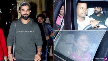 बांग्लादेश को पटकनी देने के बाद मुंबई लौटे कप्तान कोहली, पत्नी अनुष्का शर्मा ने रोमांटिक अंदाज में किया स्वागत, देखें फोटोज