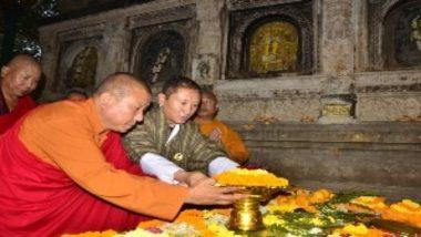 बिहार: भूटान के विदेश मंत्री तांडी दोरजी ने महाबोधि मंदिर में की पूजा-अर्चना
