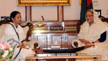 Ind vs Ban 2nd Test 2019: बांग्लादेश की प्रधानमंत्री शेख हसीना और पश्चिम बंगाल की सीएम ममता बनर्जी ने BCCI अध्यक्ष सौरव गांगुली के साथ बजाया ईडन बेल