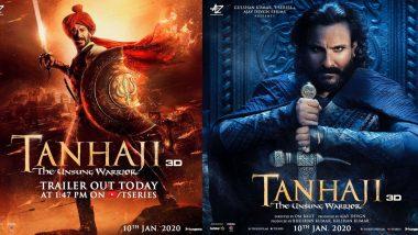 Tanhaji: The Unsung Warrior Trailer: तानाजी मालसुरे बनकर शेर की तरह दहाड़ते दिखे अजय देवगन, सैफ अली खान का भी दिखा दम