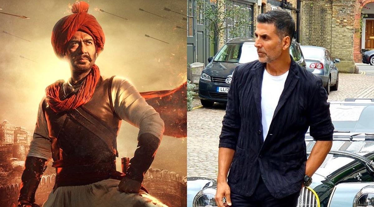 अजय देवगन की फिल्म तानाजी का पोस्टर शेयर कर अक्षय कुमार ने कहा- 30 साल पहले हमने साथ सफर शुरू किया था