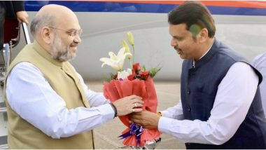 महाराष्ट्र में सियासी उठापटक खत्म होने के बाद पहली बार मुंबई पहुंचे गृहमंत्री अमित शाह, आगे की रणनीति पर हो सकती है चर्चा