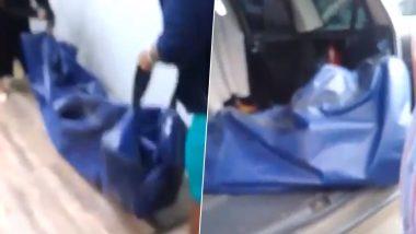 इंश्योरेंस कंपनी ने मांगा शख्स की मौत का प्रमाण, फैमिली लाश लेकर पहुंची बीमा ऑफिस, देखें वायरल वीडियो