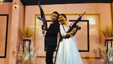नागालैंड में अपनी शादी के रिसेप्शन में राइफल संग दंपत्ति ने खिचवाई फोटो, पुलिस ने किया गिरफ्तार