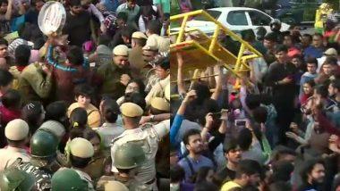 JNU में फिर बवाल: फीस वृद्धि और ड्रेस कोड के विरोध में छात्रों ने किया प्रदर्शन, पुलिस ने की पानी की बौछारें