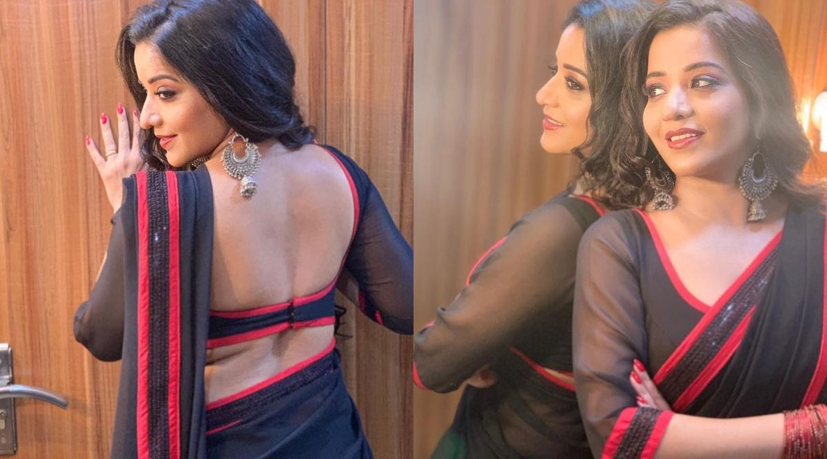 भोजपुरी Hot एक्ट्रेस मोनालिसा ने ब्लैक कलर की साड़ी पहन बरपाया कहर, कातिल अदाएं देख फैंस हुए घायल
