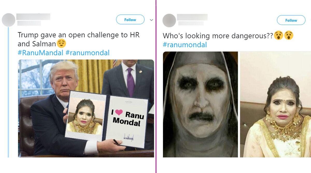 Real or Photoshopped? रानू मंडल के मेकअप को देख हैरान हुए यूजर्स, फनी मीम्स बनाकर कर रहे हैं ट्रोल